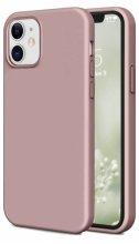 Apple iPhone 12 (6.1) Kılıf İnce Mat Esnek Silikon - Rose Gold
