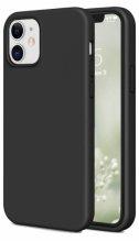 Apple iPhone 12 (6.1) Kılıf İnce Mat Esnek Silikon - Siyah