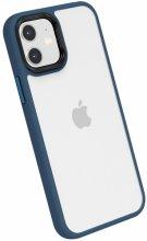 Apple iPhone 12 (6.1) Kılıf Silikon Arkası Şeffaf CANN Kapak - Lacivert