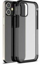 Apple iPhone 12 (6.1) Kılıf Volks Serisi Kenarları Silikon Arkası Şeffaf Sert Kapak - Siyah
