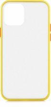 Apple iPhone 12 Mini (5.4) Kılıf Exlusive Arkası Mat Tam Koruma Darbe Emici - Sarı