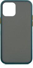 Apple iPhone 12 Mini (5.4) Kılıf Exlusive Arkası Mat Tam Koruma Darbe Emici - Yeşil