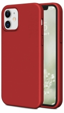 Apple iPhone 12 Mini (5.4) Kılıf İnce Mat Esnek Silikon - Kırmızı