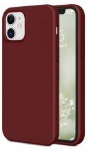 Apple iPhone 12 Mini (5.4) Kılıf İnce Mat Esnek Silikon - Mürdüm