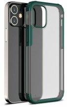 Apple iPhone 12 Mini (5.4) Kılıf Volks Serisi Kenarları Silikon Arkası Şeffaf Sert Kapak - Yeşil