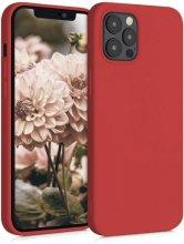Apple iPhone 12 Pro (6.1) Kılıf İnce Mat Esnek Silikon - Kırmızı