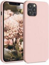 Apple iPhone 12 Pro (6.1) Kılıf İnce Mat Esnek Silikon - Rose Gold