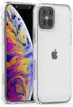 Apple iPhone 12 Pro (6.1) Kılıf Korumalı Kenarları Silikon Arkası Sert Coss Kapak  - Şeffaf