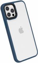 Apple iPhone 12 Pro (6.1) Kılıf Silikon Arkası Şeffaf CANN Kapak - Lacivert