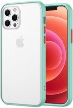 Apple iPhone 12 Pro Max (6.7) Kılıf Exlusive Arkası Mat Tam Koruma Darbe Emici - Turkuaz