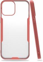 Apple iPhone 12 Pro Max (6.7) Kılıf Kamera Lens Korumalı Arkası Şeffaf Silikon Kapak - Pembe