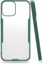Apple iPhone 12 Pro Max (6.7) Kılıf Kamera Lens Korumalı Arkası Şeffaf Silikon Kapak - Yeşil