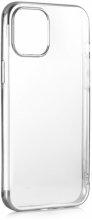 Apple iPhone 12 Pro Max (6.7) Kılıf Renkli Köşeli Lazer Şeffaf Esnek Silikon - Gümüş
