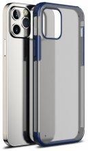 Apple iPhone 12 Pro Max (6.7) Kılıf Volks Serisi Kenarları Silikon Arkası Şeffaf Sert Kapak - Lacivert