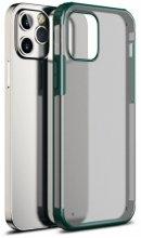 Apple iPhone 12 Pro Max (6.7) Kılıf Volks Serisi Kenarları Silikon Arkası Şeffaf Sert Kapak - Yeşil