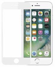 Apple iPhone 8 5D Tam Kapatan Kenarları Kırılmaya Dayanıklı Cam Ekran Koruyucu - Beyaz