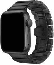 Apple Watch 38mm KRD-41 Ayarlanabilir Metal Kordon - Siyah