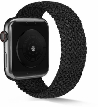 Apple Watch 42mm Kordon Hasır Örgü KRD-38 - Siyah