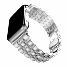 Apple Watch 42mm Metal Kordon Klipsli KRD-14 - Gümüş