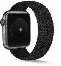 Apple Watch 44mm Kordon Hasır Örgü KRD-38 - Siyah