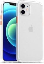 Benks Apple iPhone 12 Mini (5.4) Kılıf Arkası Mat Magic Smooth Drop Resistance Kapak - Beyaz