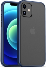 Benks Apple iPhone 12 Mini (5.4) Kılıf Arkası Mat Magic Smooth Drop Resistance Kapak - Lacivert