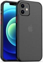 Benks Apple iPhone 12 Mini (5.4) Kılıf Arkası Mat Magic Smooth Drop Resistance Kapak - Siyah