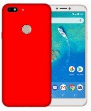 General Mobile GM 8 Go Kılıf İnce Mat Esnek Silikon - Kırmızı