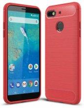 General Mobile GM 8 Go Kılıf Silikon Parmak İzi Bırakmayan Karbon Soft Room Kapak - Kırmızı