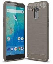 General Mobile GM 8 Kılıf Silikon Parmak İzi Bırakmayan Karbon Soft Room Kapak - Gri