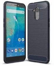 General Mobile GM 8 Kılıf Silikon Parmak İzi Bırakmayan Karbon Soft Room Kapak - Lacivert