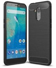 General Mobile GM 8 Kılıf Silikon Parmak İzi Bırakmayan Karbon Soft Room Kapak - Siyah