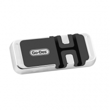 Go-Des Mıknatıslı Araç Telefon Tutucu Kablo Sabitlemeli GD-HD712  - Siyah