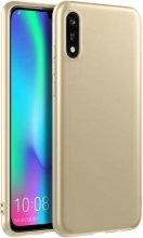 Honor 8s Kılıf İnce Mat Esnek Silikon - Gold