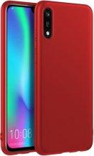 Honor 8s Kılıf İnce Mat Esnek Silikon - Kırmızı