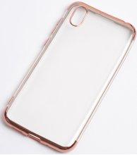 Honor 8s Kılıf Renkli Köşeli Lazer Şeffaf Esnek Silikon - Rose Gold