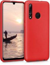 Honor 9x Kılıf İnce Mat Esnek Silikon - Kırmızı