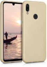 Huawei Honor 10 Lite Kılıf İnce Mat Esnek Silikon - Gold