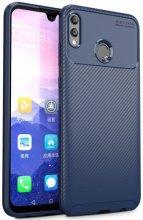 Huawei Honor 10 Lite Kılıf Karbon Serisi Mat Fiber Silikon Negro Kapak - Lacivert