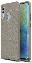 Huawei Honor 10 Lite Kılıf Deri Görünümlü Parmak İzi Bırakmaz Niss Silikon - Gri