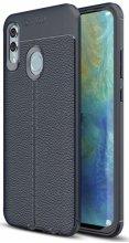 Huawei Honor 10 Lite Kılıf Deri Görünümlü Parmak İzi Bırakmaz Niss Silikon - Lacivert