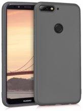 Huawei Honor 7C Kılıf İnce Mat Esnek Silikon - Siyah