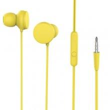 Mikrofonlu Kulaklık Kulak İçi Kumandalı 3.5mm HD Stereo - Sarı