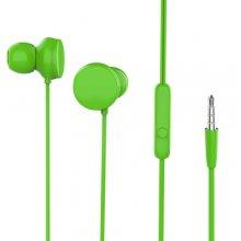 Mikrofonlu Kulaklık Kulak İçi Kumandalı 3.5mm HD Stereo - Yeşil