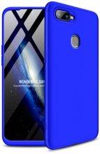 Oppo A12 Kılıf 3 Parçalı 360 Tam Korumalı Rubber AYS Kapak  - Mavi