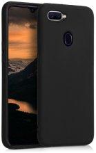 Oppo A12 Kılıf İnce Mat Esnek Silikon - Siyah