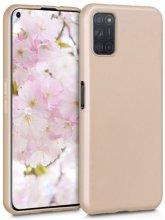 Oppo A52 Kılıf İnce Mat Esnek Silikon - Gold