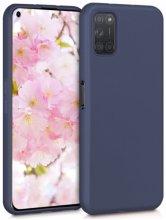 Oppo A52 Kılıf İnce Mat Esnek Silikon - Lacivert