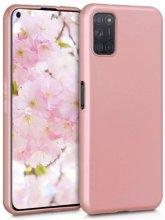 Oppo A52 Kılıf İnce Mat Esnek Silikon - Rose Gold