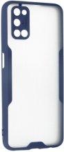 Oppo A52 Kılıf Kamera Lens Korumalı Arkası Şeffaf Silikon Kapak - Lacivert